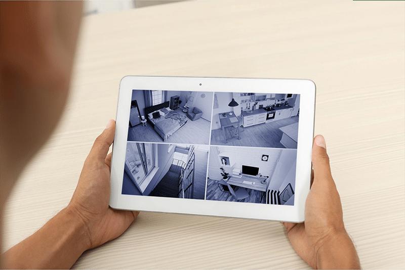 Consultation de caméra depuis tablette