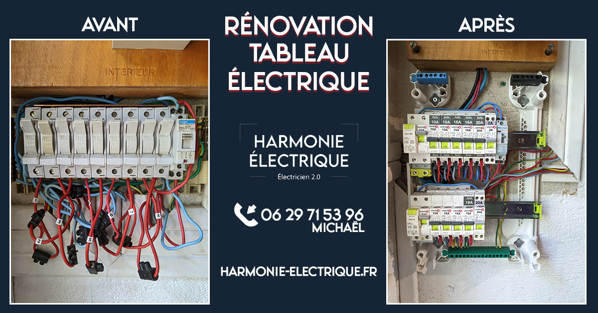 résultat rénovation tableau électrique